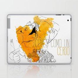 Comes como un cerdo (you eat like a pig) Laptop & iPad Skin