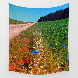Summer flowers along the trail Wall Tapestry