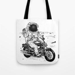 Moon Biker Tote Bag