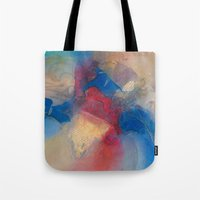 yellow submarine Tote Bags featuring Yellow Submarine by Debras Originals