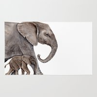 elephants Area & Throw Rugs featuring Elephants by Goosi