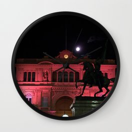 Casa Rosada con la Luna Wall Clock