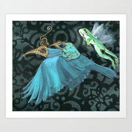 Flying Frogs Art Print