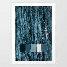 Sea pantone Art Print