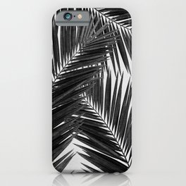 Palm Leaf Black & White III iPhone Case