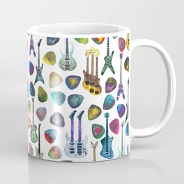 Guitars and Picks Coffee Mug