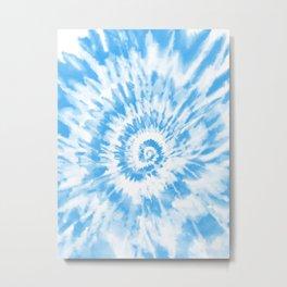 Light Ocean Blue Tie Dye Metal Print