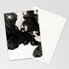 Black ink in water Stationery Cards
