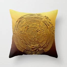 Golden Medallion Throw Pillow