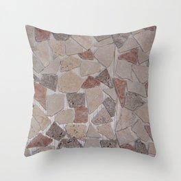 Rock floor Throw Pillow