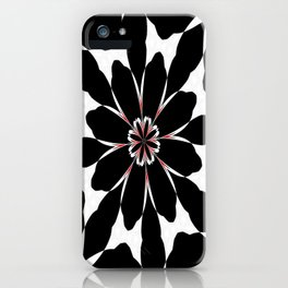 Bizarre Red Black and White Pattern 4 iPhone Case