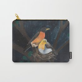 Robins in Nest Carry-All Pouch