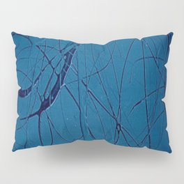 Navy Blue - Jackson Pollock Style Art - Abstract - Expressionism - Corbin Henry Pillow Sham