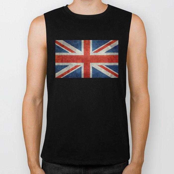 "English Flag ""Union Jack"" bright retro 3:5 Scale Biker Tank"