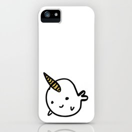 BIG GOLD BUDDY NARWHAL iPhone Case