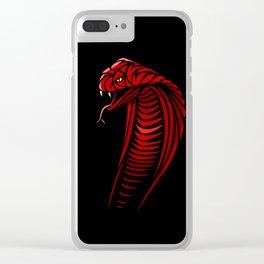 Tribal Cobra Clear iPhone Case