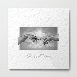 Creation - in Black & White Metal Print