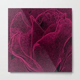 Gothic Rose in Cerise Metal Print