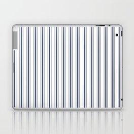 Dark Sargasso Blue Mattress Ticking Wide Striped Pattern - Fall Fashion 2018 Laptop & iPad Skin