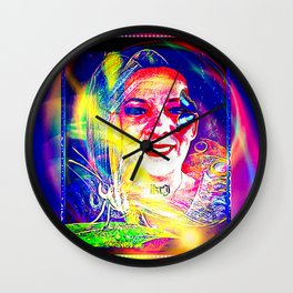 Candy Butterfly Magic 01 Wall Clock