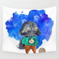 vader Wall Tapestries featuring Vader by gunberk