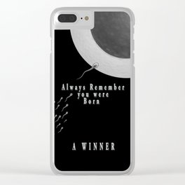 Born A Winner Clear iPhone Case