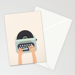 Vinyl Typewriter Stationery Cards