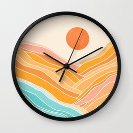 Adventure On The Horizon / Abstract Landscape Wall Clock