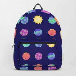 Outer Space - Polka Dot Planets Backpack