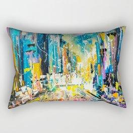 Evening on fifth avenue Rectangular Pillow