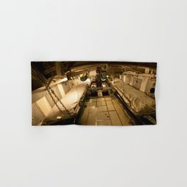 The USS Batfish SS-310 - A Perspective Panorama of the Forward Torpedo Room Hand & Bath Towel