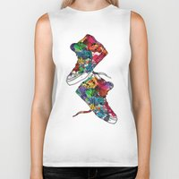 sneakers Biker Tanks featuring Paint sneakers by Cindys