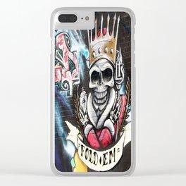 Las Vegas Skull Graffiti Clear iPhone Case