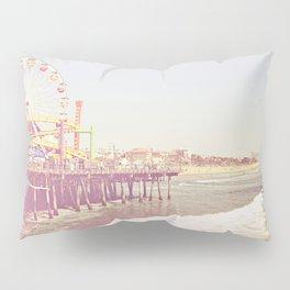 Santa Monica Pier Vintage Pillow Sham
