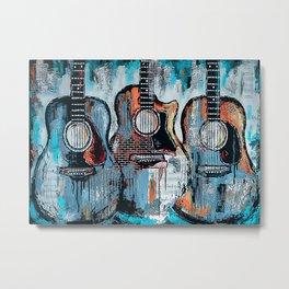Guitar Art Vintage Guitars Metal Print