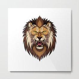 Lion's head Metal Print