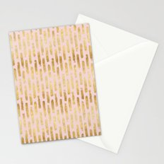 Gold Pink Chic Abstract Stripes Stationery Cards