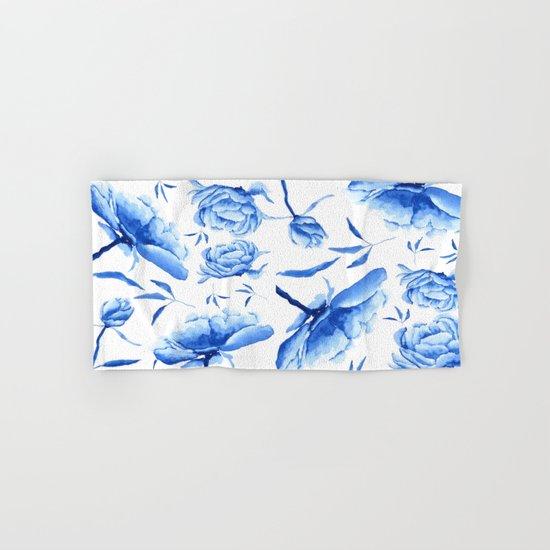 Blue peony 2 Hand & Bath Towel