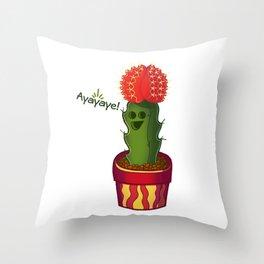 Ayayaye Cactus Rasta Throw Pillow