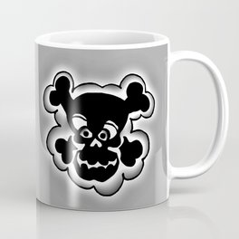 Funny Skull  Black Gray Coffee Mug