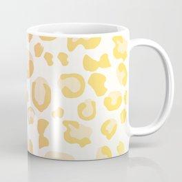 Drunken Cheetah - Pastel Yellow Retro Animal Print Coffee Mug