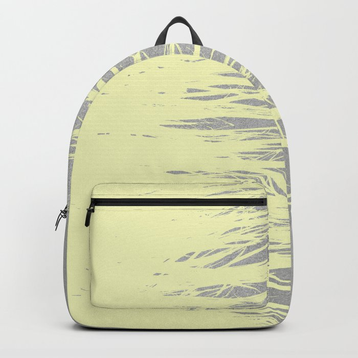 Concrete Fringe Yellow Backpack