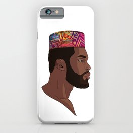 Black African King iPhone Case