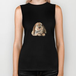 Rabbits and autumn leaves Biker Tank