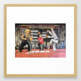 Sweep The Leg - Chalk piece Framed Art Print