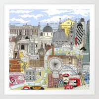 TOUR OF LONDON Art Print