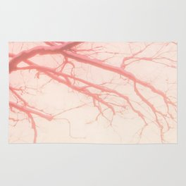 abstract rose tree Rug