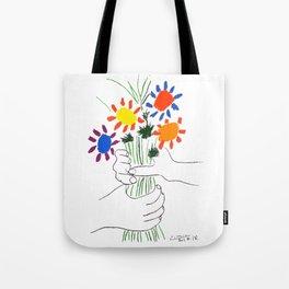 Pablo Picasso Bouquet Of Peace 1958 (Flowers Bouquet With Hands), T Shirt, Artwork Tote Bag