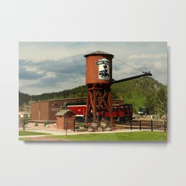 Water Tower Of The Black Hills Central Railroad Metal Print