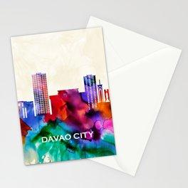 Davao City Skyline Stationery Cards